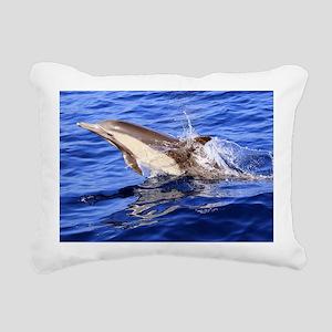 Dolphin Destination Rectangular Canvas Pillow