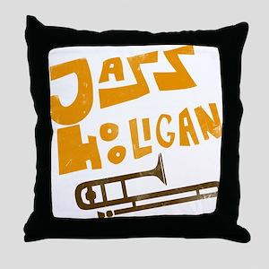 jazz_hooligan Throw Pillow