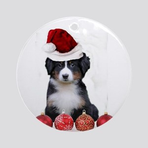 Christmas Bernese Mountain Dog Ornament (Round)