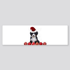 Christmas Bernese Mountain Dog Bumper Sticker
