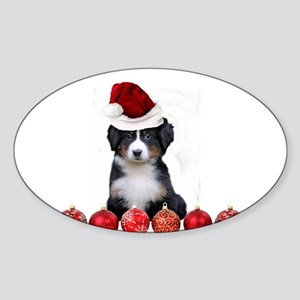 Christmas Bernese Mountain Dog Sticker