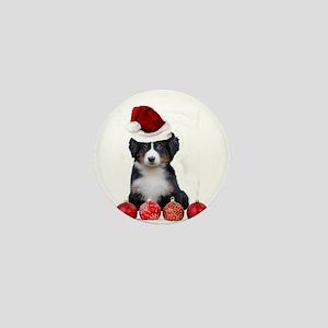 Christmas Bernese Mountain Dog Mini Button