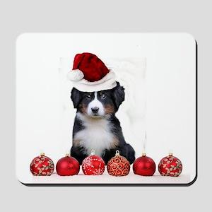 Christmas Bernese Mountain Dog Mousepad