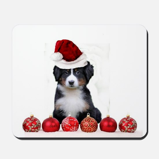 Christmas Bernese Mountain Dog Mousepad