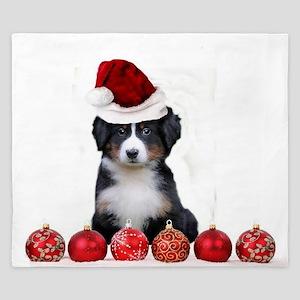 Christmas Bernese Mountain Dog King Duvet