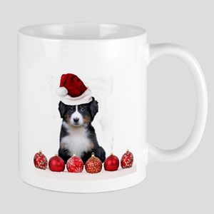 Christmas Bernese Mountain Dog Mugs
