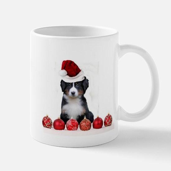 Christmas Bernese Mountain Dog Mugs