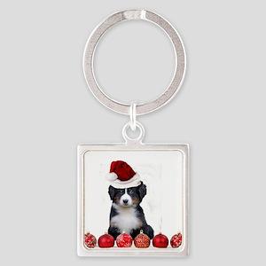 Christmas Bernese Mountain Dog Keychains