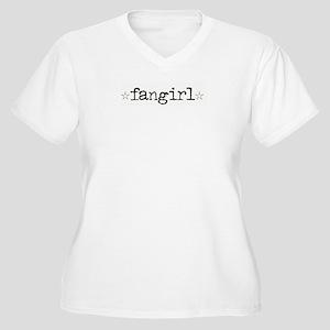 Fangirl Women's Plus Size V-Neck T-Shirt