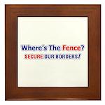 Where's The Fence Framed Tile