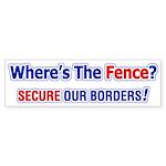 Where's The Fence Bumper Sticker