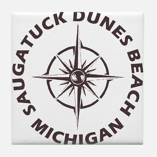 Michigan - Saugatuck Dunes Beach Tile Coaster