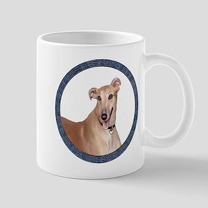 Greyhound (Portr)-Wreath Mug
