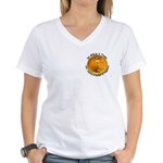 Gold Liberty 4 Women's V-Neck T-Shirt