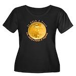 Gold Liberty 4 Women's Plus Size Scoop Neck Dark T