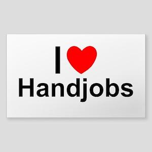 Handjobs Sticker (Rectangle)