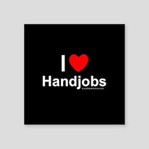 "Handjobs Square Sticker 3"" x 3"""