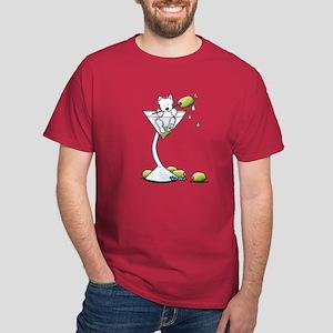KiniArt Westie Martini Dark T-Shirt