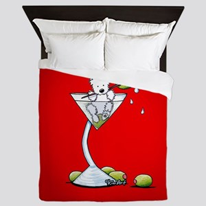 KiniArt Westie Martini Queen Duvet