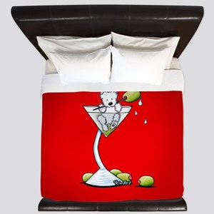 KiniArt Westie Martini King Duvet