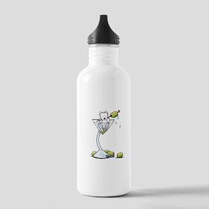 KiniArt Westie Martini Stainless Water Bottle 1.0L