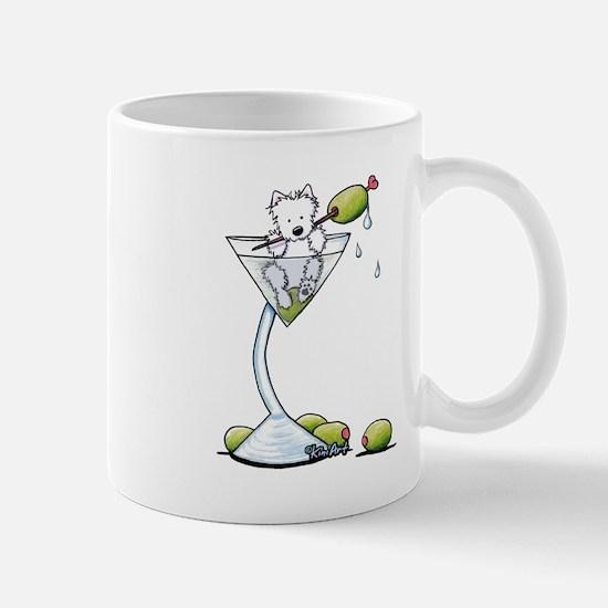 KiniArt Westie Martini Mug