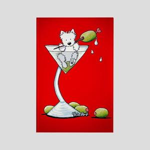 KiniArt Westie Martini Rectangle Magnet