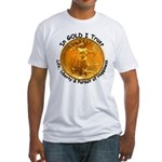 Gold Liberty 4 Fitted T-Shirt