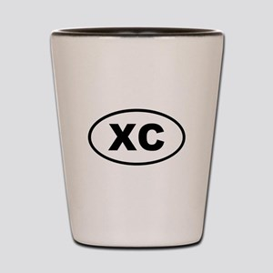 XC Cross Country Shot Glass