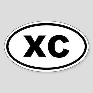 XC Cross Country Sticker (Oval)