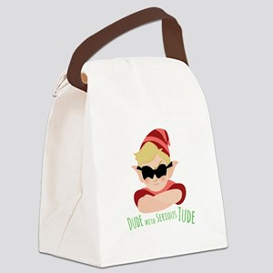 Dude With Tude Canvas Lunch Bag