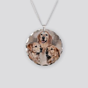 Golden Retrievers by Dawn Secord Necklace