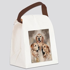 Golden Retrievers by Dawn Secord Canvas Lunch Bag