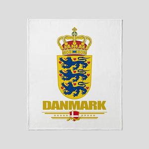 Denmark COA(Flag 10) Throw Blanket