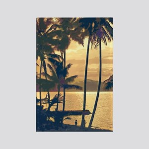Tropical Silhouettes Rectangle Magnet