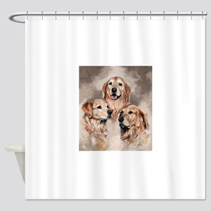 Golden Retrievers by Dawn Secord Shower Curtain