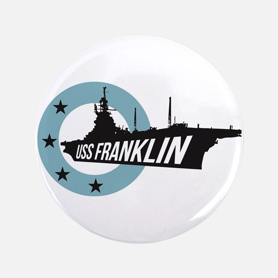 "USS Franklin 4 3.5"" Button"