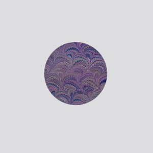 Mauve Fanfair Mini Button