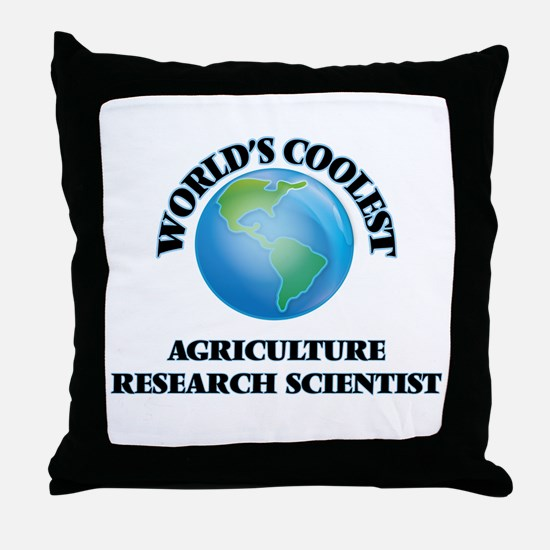 Agriculture Research Scientist Throw Pillow
