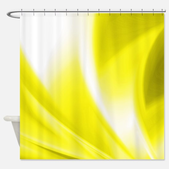 Yellow Flush Shower Curtain