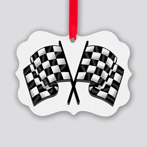 Chequered Flag Picture Ornament