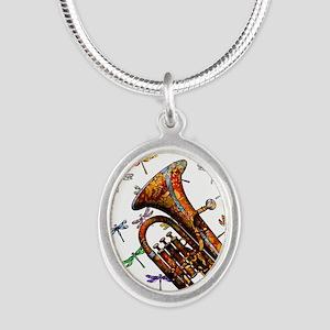 Wild Baritone Silver Oval Necklace