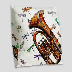 Wild Baritone Burlap Throw Pillow