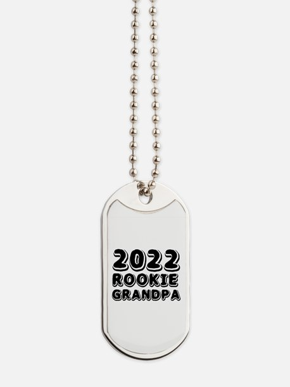 2018 Rookie Grandpa Dog Tags