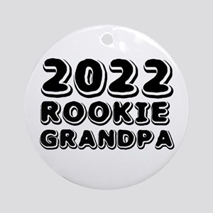 2018 Rookie Grandpa Round Ornament