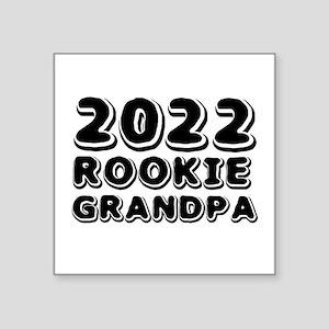 "2018 Rookie Grandpa Square Sticker 3"" x 3"""
