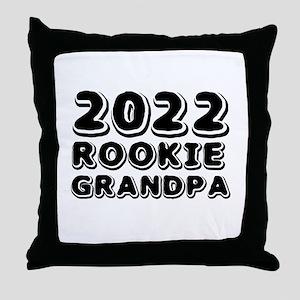 2018 Rookie Grandpa Throw Pillow