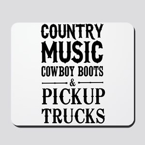 Country Music, Cowboy Boots & Pickup Trucks Mousep