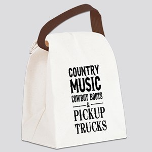 Country Music, Cowboy Boots & Pickup Trucks Canvas
