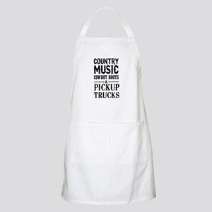 Country Music, Cowboy Boots & Pickup Trucks Apron
